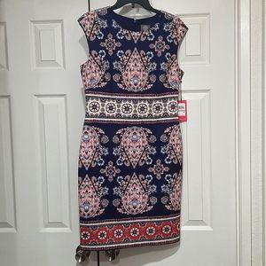 NEW VINCE CAMUTO SCUBA SHEATH NAVY SHEATH DRESS